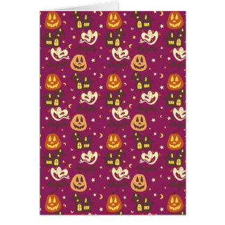 Colorful Halloween Pattern Greeting Card