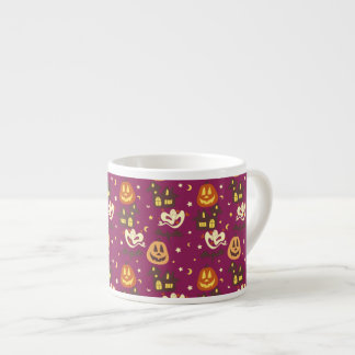 Colorful Halloween Pattern Espresso Cup