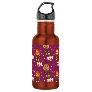 Colorful Halloween Pattern 18oz Water Bottle