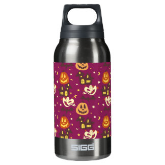 Colorful Halloween Pattern 10 Oz Insulated SIGG Thermos Water Bottle