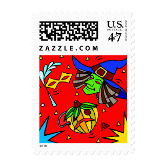 Colorful Halloween  Postage stamps