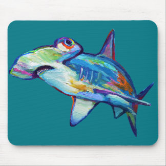 Colorful Hammerhead Shark by Robert Phelps Mouse Pad