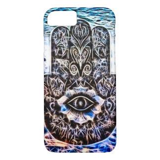 Colorful Hamsa Eye Fractal Art iPhone 7 Case