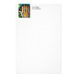 Colorful Hand Carving Stationery