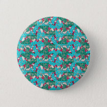 Colorful Hand Drawn Abstract Pattern Button