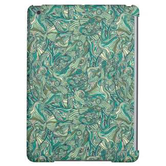 Colorful hand drawn abstract pattern design cover for iPad air