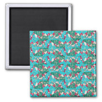 Colorful Hand Drawn Abstract Pattern Magnet