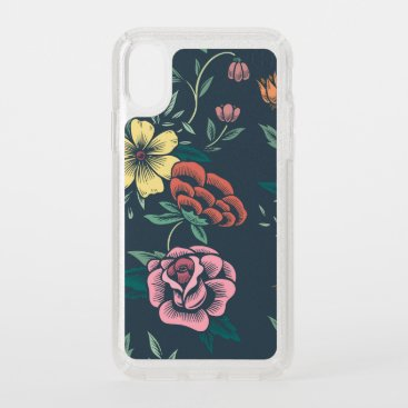 Colorful Hand Drawn Floral Speck iPhone XS Case