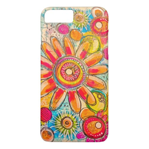 Colorful Hand-drawn Flowers Phone Case