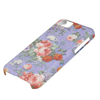 Colorful Hand Painted Rustic Flower-Blue Tint 2 Cover For iPhone 5C