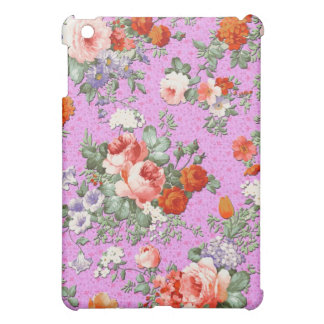 Colorful Hand Painted Rustic Flower-Pink Tint Cover For The iPad Mini
