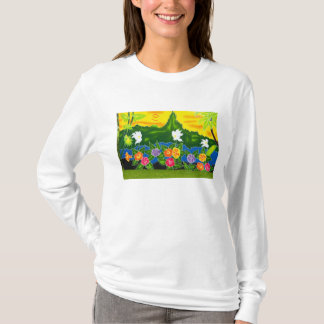 Colorful hand painted wraps.  Moorea, French T-Shirt