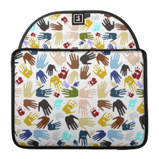 Colorful Handprints Sleeve For MacBooks