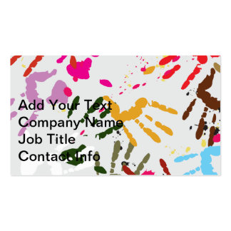 Colorful Hands Double-Sided Standard Business Cards (Pack Of 100)