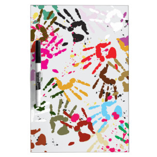 Colorful Hands Dry Erase Whiteboards
