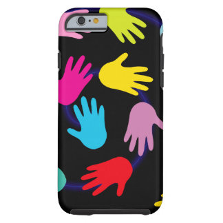 Colorful hands I phone 6 Case