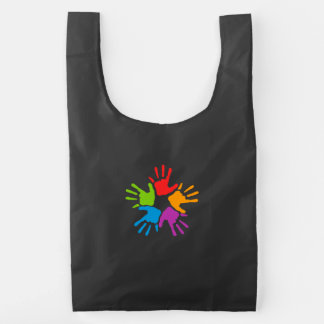 Colorful Hands Reusable Bag