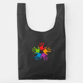 Colorful Hands Reusable Bag