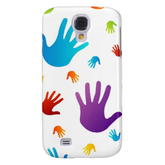 colorful hands samsung galaxy s4 cover