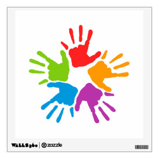Colorful Hands Wall Decal