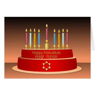 Colorful Hanukkah Candles Greeting Card