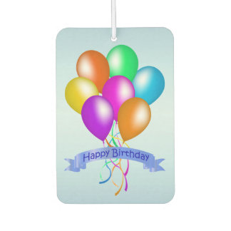 Colorful Happy Birthday Balloons Banner Party Car Air Freshener
