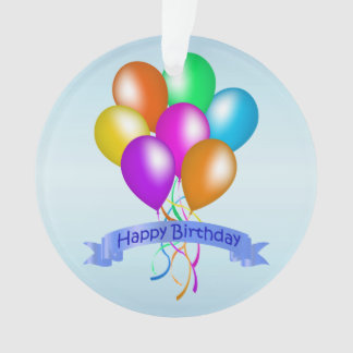 Colorful Happy Birthday Balloons Banner Party Ornament