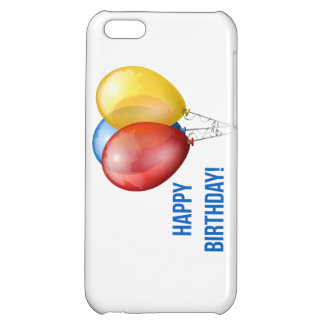 Colorful Happy Birthday Balloons iPhone 5C Covers