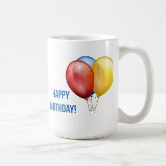 Colorful Happy Birthday Balloons Mugs