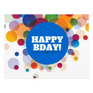 Colorful Happy Birthday Balloons Postcard