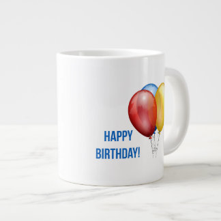 Colorful Happy Birthday Balloons Extra Large Mugs