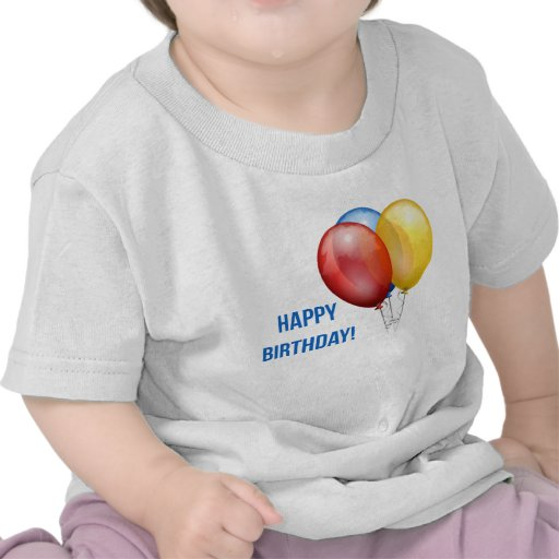 Colorful Happy Birthday Balloons T-shirt