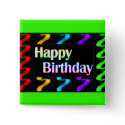 Colorful Happy Birthday Button button