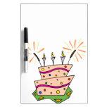 Colorful Happy Birthday Dry Erase Whiteboard