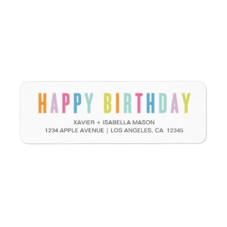 Colorful Happy Birthday Label