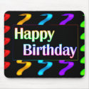 Colorful Happy Birthday Mousepad mousepad