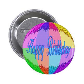 Colorful Happy Birthday Pinback Button