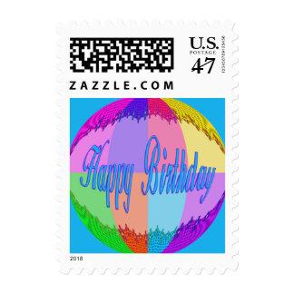 Colorful Happy Birthday Postage