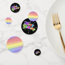Colorful Happy Birthday Rainbow Colored Polkadots Confetti