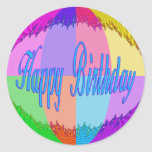 Colorful Happy Birthday Sticker