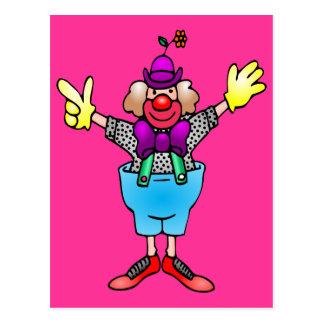 Colorful Happy Clown Postcard