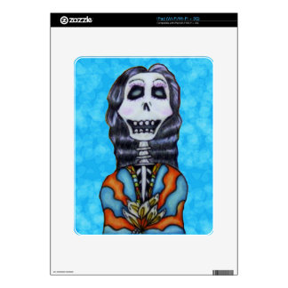 Colorful Happy Day of the Dead Skeleton iPad Skins