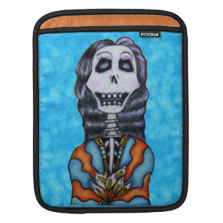Colorful Happy Day of the Dead Skeleton Sleeve For iPads