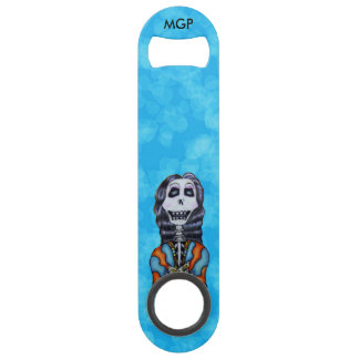 Colorful Happy Day of the Dead Skeleton Speed Bottle Opener
