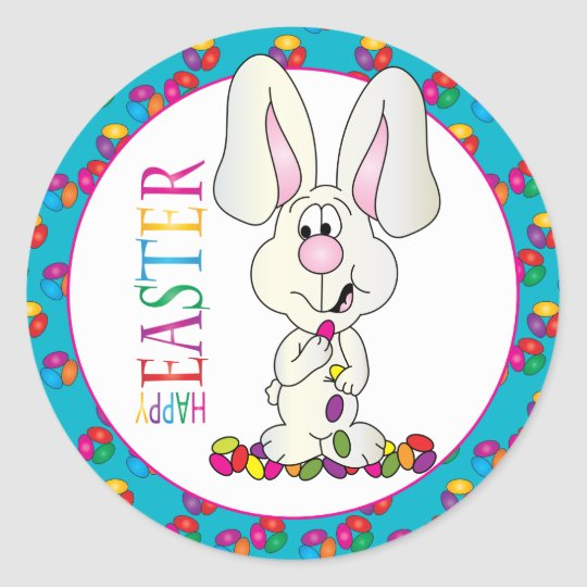 EASTER  HAPPY EASTER  STICKERS GLOSS QUALITY PERSONALISED WITH ANY TEXT