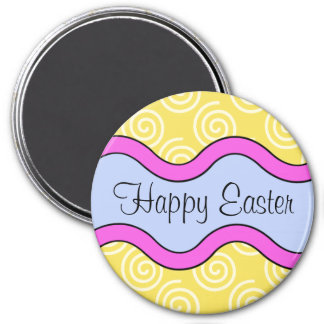 Colorful Happy Easter Magnet