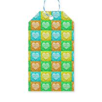 Colorful Happy Easter Pattern Gift Tags