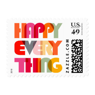 Colorful Happy Everything Modern Holiday Postage