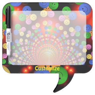 Colorful Happy Face Smiley Spiral Dry Eraser Board Dry-Erase Whiteboard