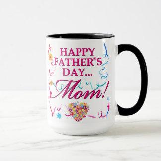 Colorful Happy Fathers Day Mom Mug
